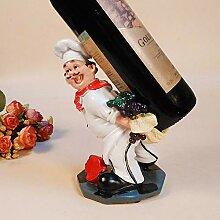 WHR-ZSP Porte Bouteille, Chef Figurines Casier À