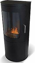 Wikao Bari - Noir, cheminée éthanol (poele Bio,