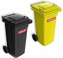 Wilai Lot de 2 conteneurs Poubelle SULO MGB 120 L,