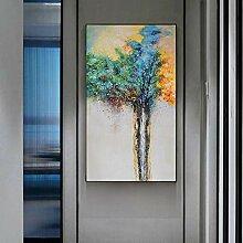 Willion Abstrait Arbre de Vie Peinture Vert