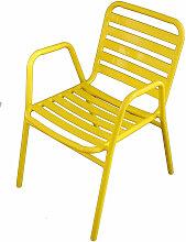 Wilsa - Fauteuil de jardin en aluminium jaune