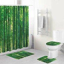 WINCAN Impression De Bambou Exotique Sauvage Vert
