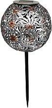 WINDY-Balise solaire décorative acier gris H43cm