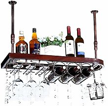 Wine Rack En Bois Massif Wine Rack Suspendu Tasse
