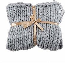 Wingbind Couverture tressée tricotée à la Main