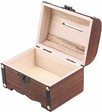 WINOMO Boîte de rangement rétro en bois avec