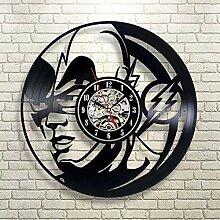 Wjlytf Horloge Murale en Vinyle à LED