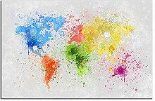 WJY Peinture à l'huile Peinture Murale Carte