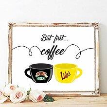 WKHRD mais Premier café Affiche Friends & Gilmore