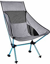 WLDSW Portable Gris Lune Chaise pêche Camping