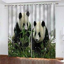 WMMTFT Rideaux Occultant Salon Moderne - Panda en