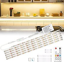 Wobsion Réglette LED 3 m - Blanc chaud - Bande