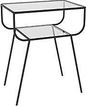 WODMB Table de Chevet en métal Net Canapé Rouge