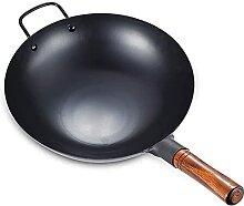 Wok en fer fait à la main - Poêle asiatique avec