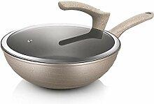 Wok for pot d' usage domestique avec couvercle