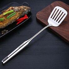 Wok – spatule en acier inoxydable à poignée