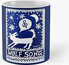 Wolf Song Blue Classic Mug