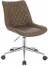 WOLTU BS121br Chaise de Bureau Tabouret de Bureau