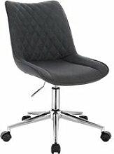 WOLTU Chaise de Bureau Tabouret en lin pivotant