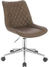 WOLTU Chaise de Bureau Tabouret en Similicuir