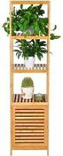 WOLTU Etagère en bambou, rangement pour salle de