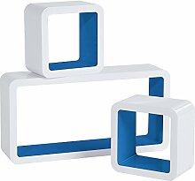 WOLTU RG9229dbl Lot de 3 Étagère Murale Cube en