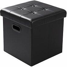 WOLTU SH15sz Tabouret Pouf Coffre Cube