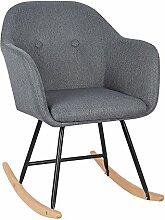 WOLTU® SKS04dgr Chaise à Bascule Pieds en Acier