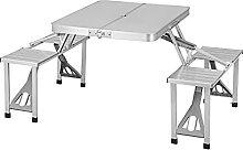 WOLTU Table de Camping Table Pliante avec 4
