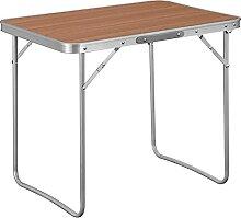 WOLTU Table de Camping Table Pliante en Aluminium