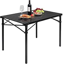 WOLTU Table Pliante Table de Camping en Aluminium,