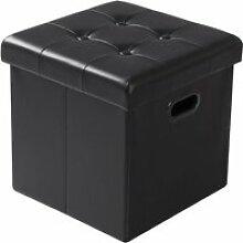 WOLTU Tabouret pouf coffre cube, Repose-pieds,