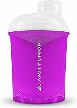 Women's Protein Shaker 400 ml Pink White