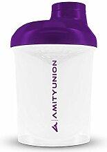 Women's Protein Shaker 400 ml White Purple