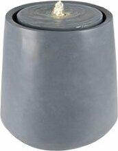 Womo-design fontaine grise, avec éclairage led et