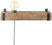 WOODHILL-Applique étagère Métal et bois L40cm