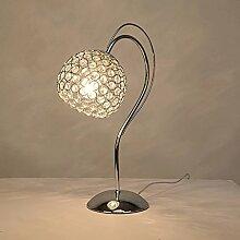 WOOE Lampe de table en cristal moderne maison