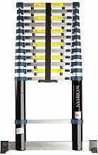 WORHAN® Echelle 3.8m Télescopique PRO Aluminium