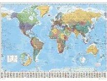 World Map - Carte Du Monde - 100x140cm - AFFICHE -