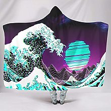 WOSITON Ocean Wave Couvertures légères à porter