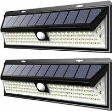 WoWa® 2 Pack Lampe Solaire Extérieur 54 LED