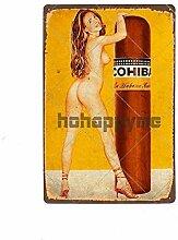 WPLSKY Vintage Tin Signes Métal Pin Up Affiche