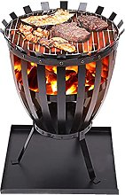 WQF Barbecue Portable,Fire Pit with BBQ Grill -