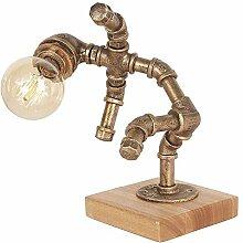 WREEE Lampe de Table en Fer forgé Steampunk -
