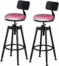 WRISCG Tabouret de Bar en Bois réglable chaises