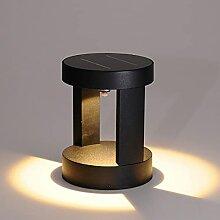 WRMING 15W LED Borne Lampadaire Solaire Exterieur