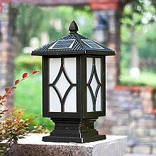 WRMING Lampe Pilier Portail Solaire Exterieur LED