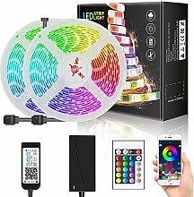 WRQING 5050 RGB LED Ruban, Bande LED Music Sync