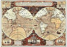 WSF-CARTE, 1pc 150x100cm Vintage Globe Old World