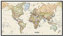 WSF-CARTE, 1PC Carte du monde Mercator Projection